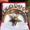 2.75ctw Victorian Crescent and Star Brooch 7