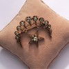 2.75ctw Victorian Crescent and Star Brooch 23