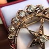 2.75ctw Victorian Crescent and Star Brooch 18