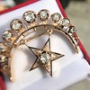 2.75ctw Victorian Crescent and Star Brooch 9