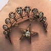 2.75ctw Victorian Crescent and Star Brooch 3
