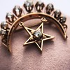 2.75ctw Victorian Crescent and Star Brooch 26