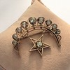 2.75ctw Victorian Crescent and Star Brooch 24