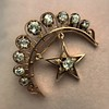 2.75ctw Victorian Crescent and Star Brooch 19