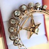 2.75ctw Victorian Crescent and Star Brooch 11