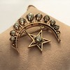 2.75ctw Victorian Crescent and Star Brooch 25