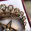 2.75ctw Victorian Crescent and Star Brooch 17