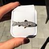 3.00ctw Art Deco Diamond Fish Brooch 3