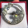 4.50ctw Old European Cut Edwardian Bow Brooch 17