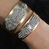 3.80ctw Art Deco Asscher & OEC Diamond Brooch Cuff Conversion 16