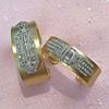 3.80ctw Art Deco Asscher & OEC Diamond Brooch Cuff Conversion 18