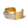 3.80ctw Art Deco Asscher & OEC Diamond Brooch Cuff Conversion 1