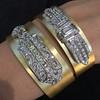 3.80ctw Art Deco Asscher & OEC Diamond Brooch Cuff Conversion 17
