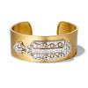 3.80ctw Art Deco Asscher & OEC Diamond Brooch Cuff Conversion 0