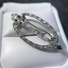 Art Deco Diamond and Onyx Brooch 8