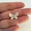 Petite Butterfly Pave Diamond Brooch 1