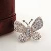 Petite Butterfly Pave Diamond Brooch 0