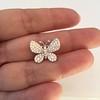 Petite Butterfly Pave Diamond Brooch 11