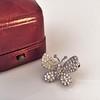 Petite Butterfly Pave Diamond Brooch 3