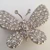 Petite Butterfly Pave Diamond Brooch 2