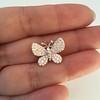 Petite Butterfly Pave Diamond Brooch 14