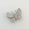 Petite Butterfly Pave Diamond Brooch 16
