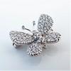 Petite Butterfly Pave Diamond Brooch 8