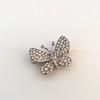 Petite Butterfly Pave Diamond Brooch 17