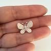 Petite Butterfly Pave Diamond Brooch 15