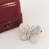 Petite Butterfly Pave Diamond Brooch 18