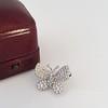 Petite Butterfly Pave Diamond Brooch 19