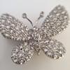 Petite Butterfly Pave Diamond Brooch 10