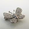 Petite Butterfly Pave Diamond Brooch 5