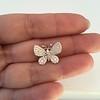 Petite Butterfly Pave Diamond Brooch 12
