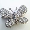 Petite Butterfly Pave Diamond Brooch 9