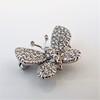 Petite Butterfly Pave Diamond Brooch 13