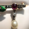 Victorian Antique Serpent Diamond and Ruby Brooch 11