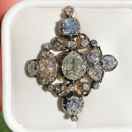 Victorian Diamond Convertible Brooch/Pendant