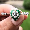 .45ctw Victorian Heart Diamond and Enamel Pin 20