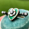 .45ctw Victorian Heart Diamond and Enamel Pin 11