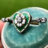.45ctw Victorian Heart Diamond and Enamel Pin 16
