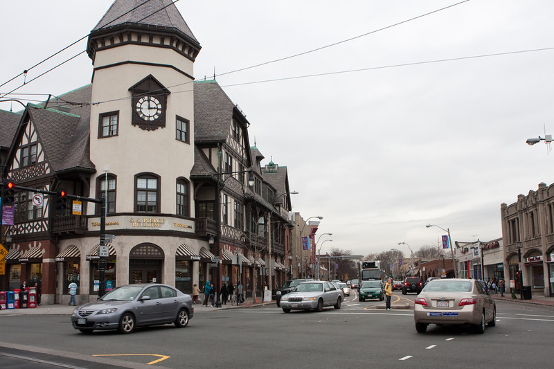 When I lived in Brookline in the 60's, the SS Pierce store was housed in this building and sold spices and gourmet and specialty foods. Now it is Walgreen's but is officially called the SS Pierce Building.
