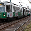 """The Green Line, C, runs between North Station and Cleveland Circle. It passes right outside of my windows from 5:30 am to 1 am but I rarely hear it. Sometimes, around noon, I'll hear it chug by, and think, """"Oh, is that the first one today?"""""""