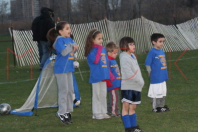 BROOKLYN - APRIL 13: Children play at The Brooklyn Italians Soccer Academy Practice at The Bensonhurst Soccer Field on Monday, April 13, 2009 in BROOKLYN, NY.