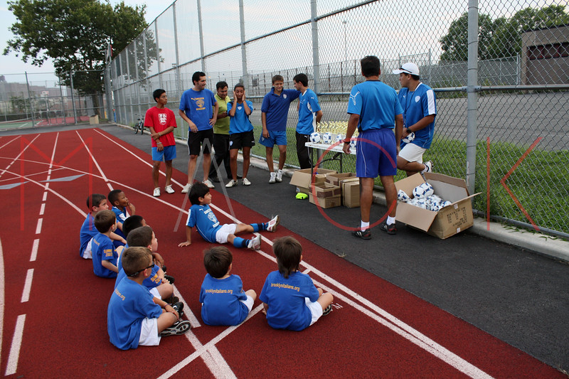 Brooklyn - August 26: Players play and receive their Trophies at  Brooklyn Italians Soccer Academy practice at John Dewey High School on Wednesday, August 26, 2009 in Brooklyn, NY.  (Photo by Steve Mack/S.D. Mack Pictures)
