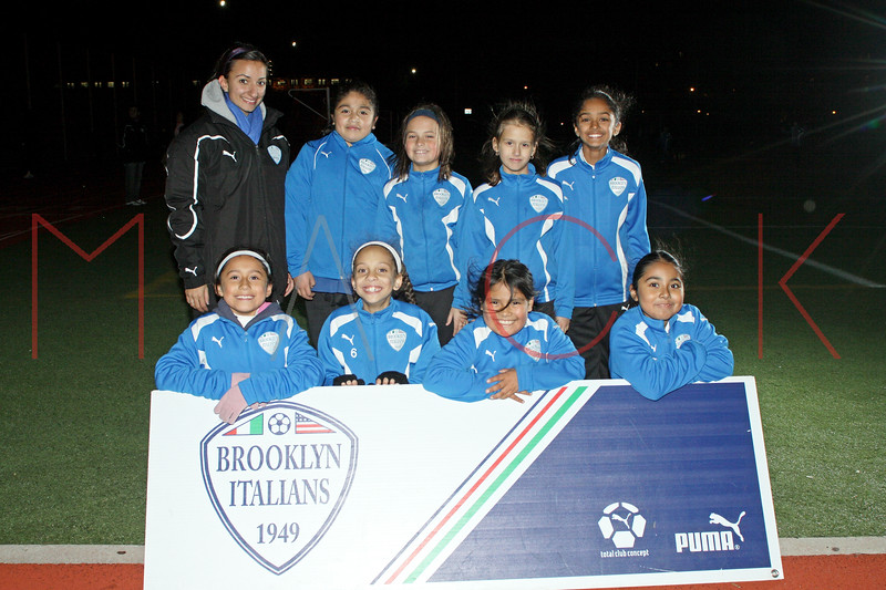 Brooklyn - November 9: Brooklyn Italians A.S. Roma Girls U-10 at Brooklyn Italians Soccer Academy Team Photo Session at John Dewey High School on Tuesday, November 9, 2010 in Brooklyn, NY.  (Photo by Steve Mack/S.D. Mack Pictures)