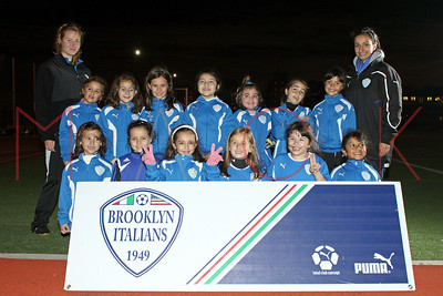 Brooklyn Italians S.A. Roma U-9 Girls Team Photos