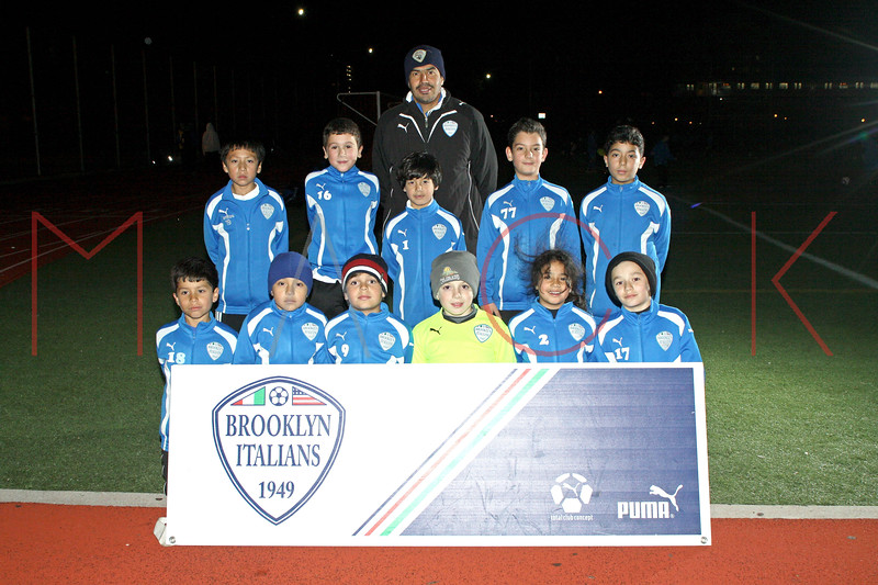 Brooklyn - November 9: Brooklyn Italians A.S. Roma U-9A at Brooklyn Italians Soccer Academy Team Photo Session at John Dewey High School on Tuesday, November 9, 2010 in Brooklyn, NY.  (Photo by Steve Mack/S.D. Mack Pictures)