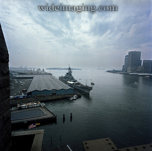 "I saw the IOWA BB-61 on October 19 1984 docking at Pier 1 from the B train when the conductor announced ""this is something you'll never see again"". I walked back over on the Brooklyn Bridge and took this shot. The IOWA was launched from the Brooklyn Navy Yard on February 23, 1943."
