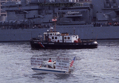 Detail of the Circle Line view of the Iowa, October 1984